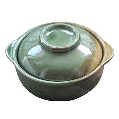 KASILU CP0213 Salad Bowls Porcelain Bowls Ceramic Bowl Mixing Earthenware Steaming Bowl Crude Non-Slip High Temperature Resistance Retro Solid Color Durable