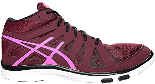 ASICS Gel-FIT Tempo 2 Mid Height Women's Fitness Shoes (S564N-2935) (Royal Burgundy/Pink Glow/Onyx) (UK 4.5 / EU 37.5 / US 6.5 / cm 23.5)