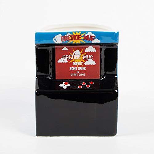 el & groove Taza de Arcade 3D Colorida, Taza de café de 250 ml (300 ml rebosante), Taza de té de Porcelana en Azul Turquesa, máquina tragaperras Videojuego Ordenador Consola, decoración Regalo