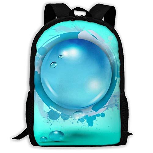 Mochila Escolar Waterpolo Sport Bookbag Bolsa de Viaje Informal para niñas Adolescentes