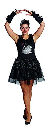 Rubie's Cigno Tulle Vestito Black Swan schwank leid Costume per Donna