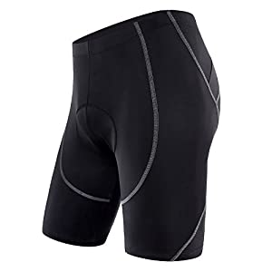 Sportneer Men's Cycling Shorts 4D Coolmax Padded Bike Bicycle Pants Tights, Breathable & Absorbent