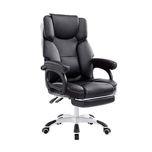 Kaffeetische LQ Bürostuhl Massagesessel bequem weicher Stuhl PU Nicht leicht zu waschen Hände Stuhl zurück Tisch Bürostuhl Computersystem Stuhl zurück Montag Bürostuhl Bürostuhl (Color : Black)