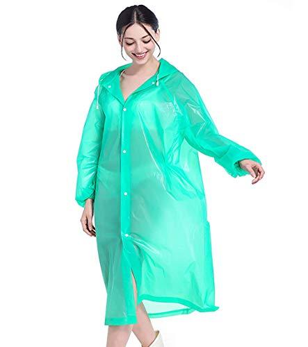 Damesjas met capuchon, regenjas, regenjas voor heren, regenjas voor buiten, poncho - EVA-materiaal - groen