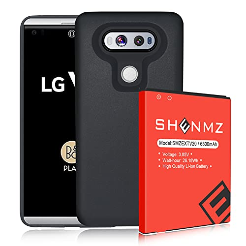 LG V20 Battery,6800mAh (More Than 2X Extra Battery Power) Replacement LG V20 Extended Battery BL-44E1F with Black TPU Case for LG H910 H918 VS995 LS997 Phone   LG V20 Battery Case