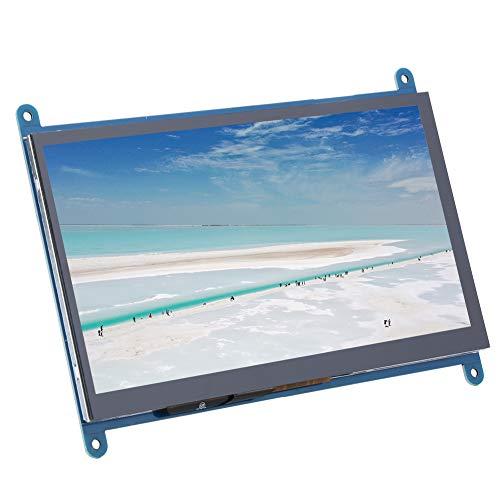 Touchscreen-Monitor für Raspberry Pi, 7-Zoll-Hintergrundbeleuchtung 1024 x 600 HDMI LCD Kapazitive Anzeige für Raspberry Pi/Windows/Ubuntu/Raspbain/Ulinx/Linx
