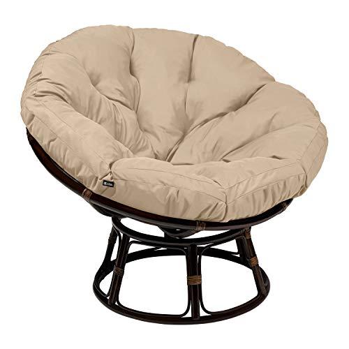 Classic Accessories Montlake Water-Resistant 50 Inch Papasan Cushion, Antique Beige