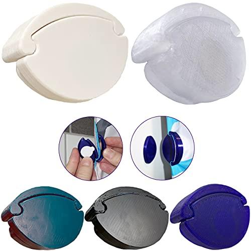 CURTIES Duschvorhang Befestigung Halter Verschluss Spritzschutz Clips Magnet Selbstklebend Dusche Bad Zubehör (HalfSet - 2 Clips, 2 Wandmagnete, White)