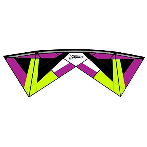 Revolution - Volante de 4 líneas, Reflex XX, Color Rojo y Negro