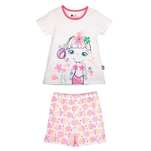 Petit Béguin - Pyjama fille manches courtes Mahina - Couleurs - Ecru, Longueur des manches - Manches courtes, Taille - 2/3 ans (92/98 cm)