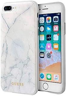 153425860d5 URGEMOVIL Carcasa iPhone 7 Plus/iPhone 8 Plus Licencia Guess Mármol Blanco