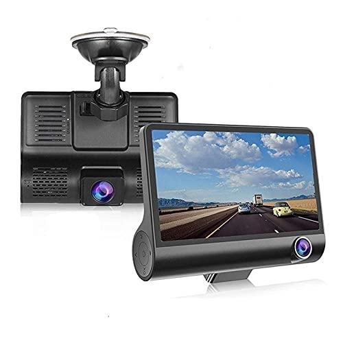 Grabadora de conducción Grabadora de conducción de coche de 4 pulgadas con cámara de vista trasera 3 en 1 1080p Dash Camera Coche DVR Grabación de bucle G Sensor G 170 ° Dashcam Car Para velocidad, ré