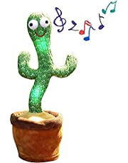 2021 Newly Upgraded TIK Tok Parrot Cactus That Can Sing and Dancing Toy, Dancing Cactus, Singing Cactus Toy, for Home Decoration and Children Playing