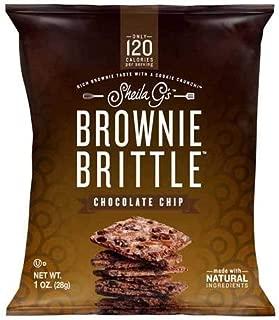 Sheila Gs Chocolate Chip Brownie Brittle, 1 Ounce -- 72 per case.