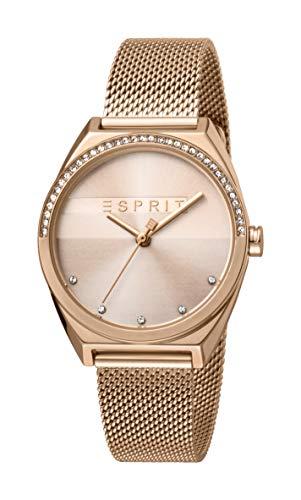 Esprit Reloj Analógico para Mujer de Cuarzo con Correa en Acero Inoxidable ES1L057M0065