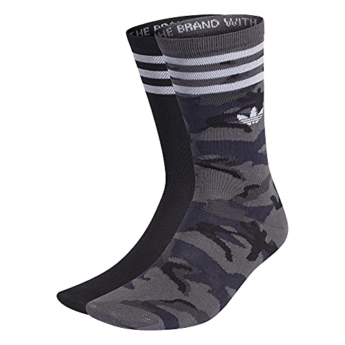adidas Camo Crew Socks Socken 2er Pack (L, grey/camo, l)