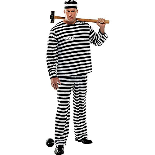 Amscan International Gaolbird Con Prisonnier Costume