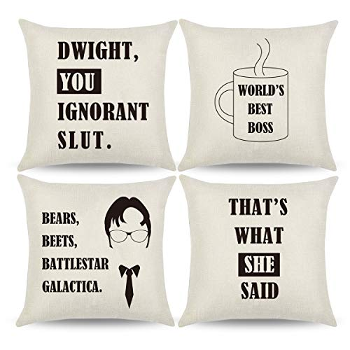 4pcs The Office Throw Pillow Covers