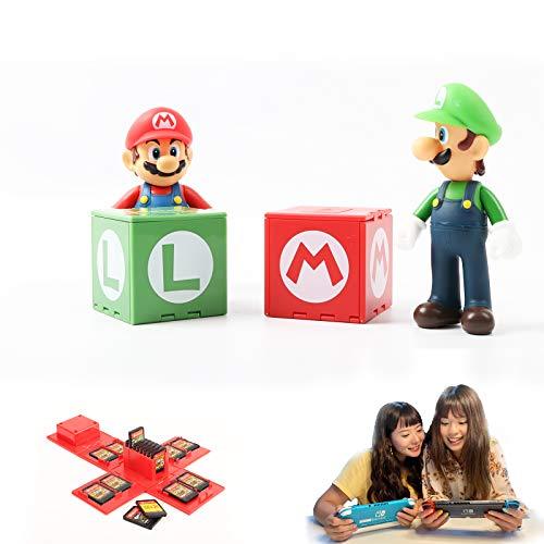 Nintendo Switch - Funda para tarjetas de juego para Nintendo Switch con 16 ranuras (Mario + Luigi)