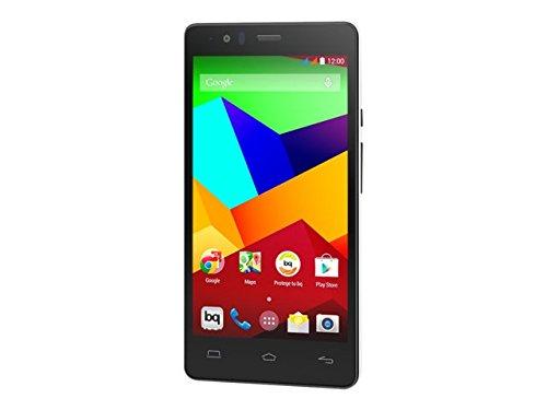 BQ Aquaris E5 LTE - Smartphone libre Android (pantalla 5 pulgadas, cámara 13 Mp, 16 GB, Qualcomn Snapdragon 410 Quad-Core A53, 2 GB RAM), blanco y negro