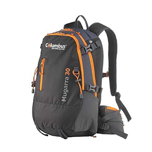 COLUMBUS Sac à Dos Trekking Mugarra 30 Sac à Dos Randonnée Femme Homme 30 litres Voyage Camping Escalade Couleur Noire avec Orange