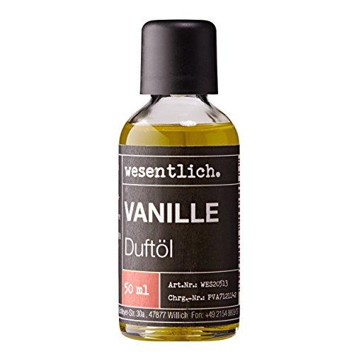 Vanille Duftöl 50ml - Premium Raumduft für Lampen und Diffuser - Wellness für die Sinne von wesentlich.