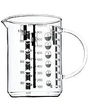 Wmf Gourmet Maatbeker, 1,0 L, Hittebestendig Glas, Schaal Voor Liter, Milliliter, Kopjes En Gram