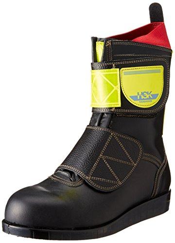 [ノサックス] 安全靴 舗装靴 HSKマジック 高輝度反射付 黄色 メンズ 黒 JP JP25.5cm(25.5cm)