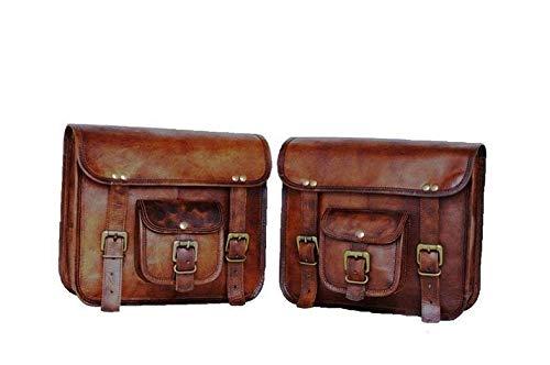 1 Paar Motorrad-Seitensatteltaschen Leder Rücksitz Satteltasche Reisewerkzeug Schwanz Gepäcktasche Satteltaschen (2 Taschen)