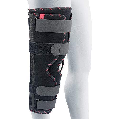 ORTONYX Inmovilizador de rodilla Tri-Panel para pierna completa, transpirable y ligero, soporte para pierna recta, férula de rodilla, 40 cm