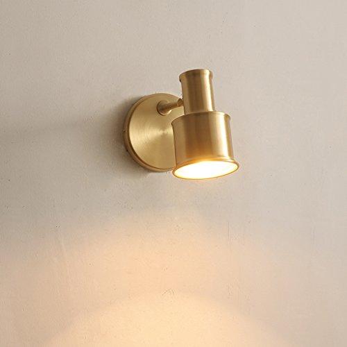 CJH All-cuivre Applique Simple Simple Salle De Bains Salle De Bains Miroir Lumière Allée Lumières Nordique Chambre Chevet Lampe