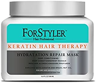 Deep Conditioning treatment mask for dry and damaged hair- Keratin Hair Therapy 16.9 oz/ 500ml
