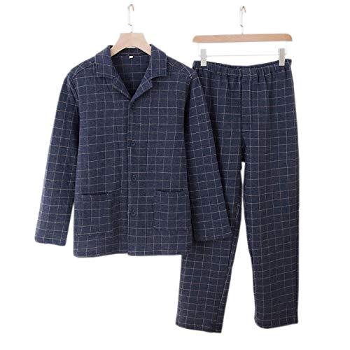 LEYUANA Nachthemd,Verdicken Winter Paar Pyjamas Sets, Männer Frauen Baumwolle Warm...