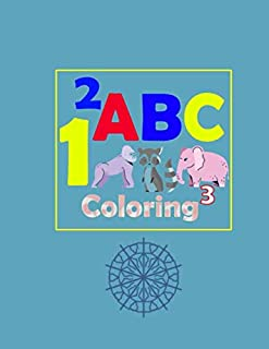 ABC Coloring: ABC for coloring, kids coloring activity books - animal abc coloring book | 107 pages 8.5 x 11 inch
