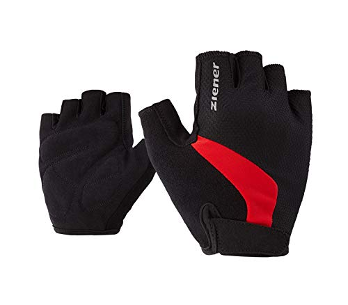 Ziener Erwachsene CRIDO Fahrrad-, Mountainbike-, Radsport-Handschuhe | Kurzfinger - atmungsaktiv/dämpfend, Red, 9