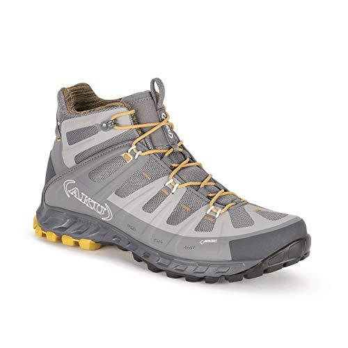 AKU Selvatica MID GTX - Wanderschuh - Trekkingschuh - Outdoorschuh - für Herren - Farbe: grau-Ocker (44.5 EU)