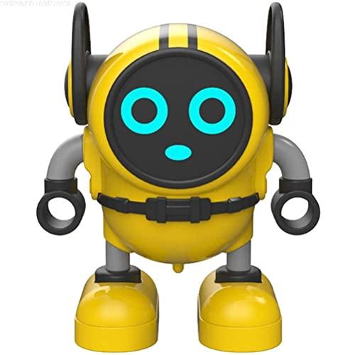 tianlanshuilv Novedad Robot Gyro Juguete, Spinning Educación Temprana Juguete DIY Mini Robot Pull Back Inercia Spinning Top Puzzle Robot Educación Temprana Juguete para niños mayores de 6 años