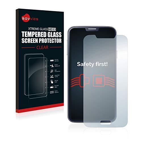 Savvies Panzerglas kompatibel mit Samsung Galaxy S5 / S5 Neo - Echt-Glas, 9H Festigkeit, Anti-Fingerprint