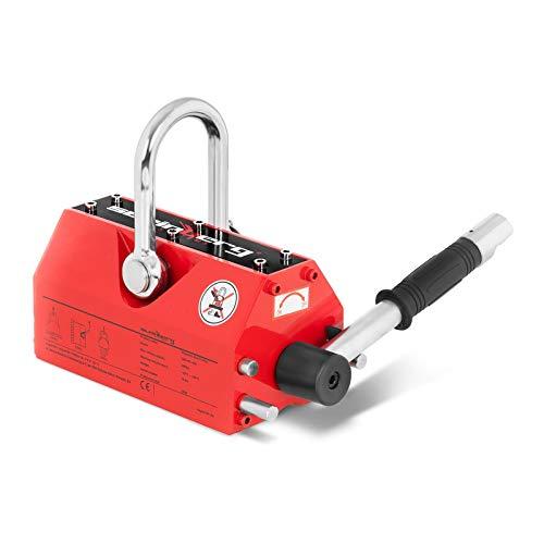Steinberg Systems - Lasthebemagnet Kranmagnet (600 kg Hebeleistung, 1.800 kg Zugkraft, -40° bis 80° Temperaturbereich, Abschaltefunktion) Rot