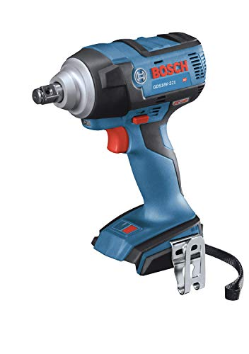 BOSCH GDS18V-221N 18V EC Brushless 1/2 In. Impact Wrench with Friction Ring and Thru-Hole (Bare Tool)
