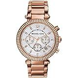 Michael Kors Women's Parker Rose Gold-Tone Watch MK5491