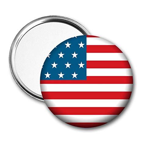 Verenigde Staten Vlag Pocket Spiegel voor Handtas - Handtas - Gift - Verjaardag - Kerstmis - Stocking Filler - Secret Santa