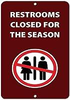 シーズンのために閉鎖されたトイレ金属錫看板産業標識安全標識道路標識