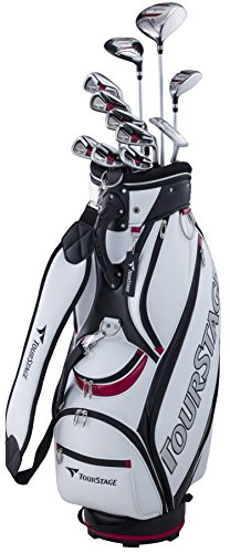 BRIDGESTONE(ブリヂストン) ゴルフクラブセット メンズ TOURSTAGE V002 キャディバッグ付きクラブ11本セット ゴルフセット ゴルフクラブ アイアンセット V2GBKCR