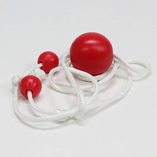 AroundSquare MoKnuckles - Delrin - Single Ball - Begleri Skill Toy (Red)