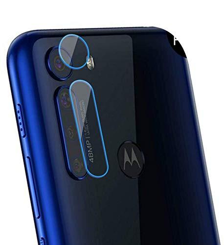 NOKOER Protector Cámara para Motorola One Fusion Plus, [3 Pack] Protector de Pantalla Cámara, 2.5D Película de Protección de Vidrio Templado Resistente a Los Arañazos - Transparente