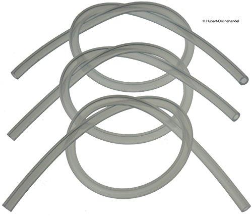 3 x Milchschlauch Silikonschlauch, je 38cm für JURA ENA, JURA Impressa Cappuccinatore Milchschaum-Düse Milchschäumer (6,82€/m)