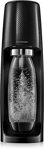 Sodastream Gasatore Acqua Spirit Nero + 1 Cilindro C02 + 1 Bottiglia Fuse 1L