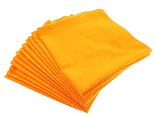 Frompt2y Paño Paños Trapos Bayeta de Limpieza Grandes Multiusos 100% Algodón para el Coche, Pulido, Moto, Barco, Casa, Cocina o Baño - 50x50cm Color Naranja