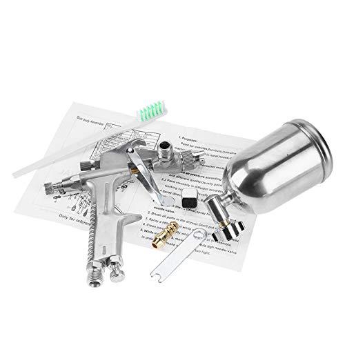 Rociador de modo de alimentación por gravedad F-2 125ml Pistola de pulverización Pulverizador de aire de boquilla de 0,5 mm con accesorios de pulverización para rociar